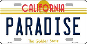 Paradise California Novelty Wholesale Metal License Plate LP-4904