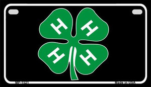 4-H Wholesale Metal Novelty Motorcycle License Plate MP-1521