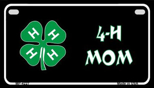 4-H Mom Wholesale Metal Novelty Motorcycle License Plate MP-4227