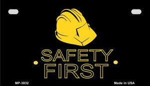 Safety First Wholesale Metal Novelty Motorcycle License Plate MP-3832