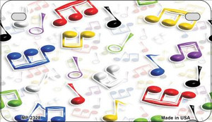 Musical Notes Multi-Color Wholesale Metal Novelty Motorcycle License Plate MP-2328