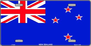 New Zealand Flag Wholesale Metal Novelty License Plate LP-491