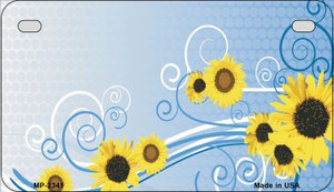 Sunflowers Wholesale Metal Novelty Motorcycle License Plate MP-2341