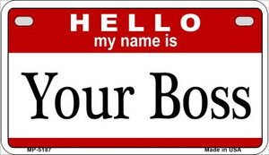 Your Boss Wholesale Metal Novelty Motorcycle License Plate MP-5187