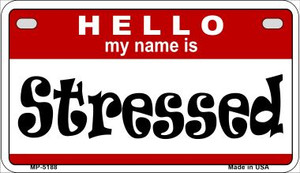 Stressed Wholesale Metal Novelty Motorcycle License Plate MP-5188