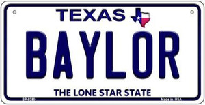 Baylor Texas Background Novelty Wholesale Metal Bicycle License Plate BP-9380