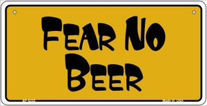 Fear No Beer Novelty Wholesale Metal Bicycle License Plate BP-5233