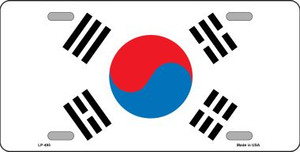 South Korea Flag Wholesale Metal Novelty License Plate