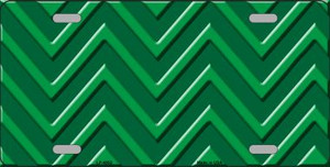 Green Light Green Chevron Monochromatic Wholesale Metal Novelty License Plate LP-4952
