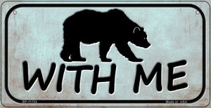 Bear With Me Wholesale Novelty Bicycle License Plate BP-11733