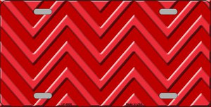 Red Light Red Chevron Monochromatic Wholesale Metal Novelty License Plate LP-4956