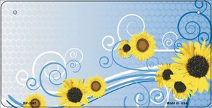 Sunflowers Wholesale Metal Novelty Bicycle License Plate BP-2341