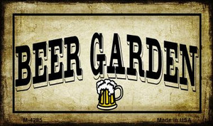 Beer Garden Wholesale Metal Novelty Magnet M-4285