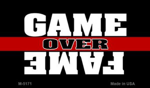 Game Over Fame Wholesale Metal Novelty Magnet M-5171