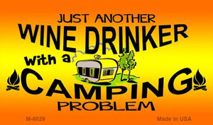 Just Another Wine Drinker Novelty Wholesale Metal Magnet M-8029