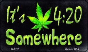 Its 4:20 Wholesale Metal Novelty Magnet M-8753