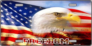 Freedom Bald Eagle Wholesale Metal Novelty License Plate LP-5002
