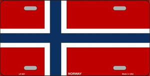 Norway Flag Wholesale Metal Novelty License Plate LP-501