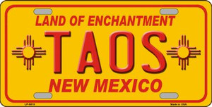 Taos Yellow New Mexico Novelty Wholesale License Plate LP-5010