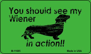 Wiener In Action Wholesale Novelty Magnet M-11685