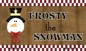 Frosty The Snowman Wholesale Metal Novelty Magnet XMAS-20