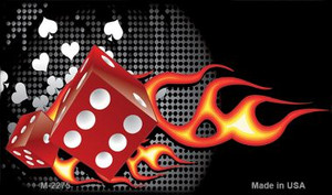 Fire Dice Flame Wholesale Metal Novelty Magnet M-2275