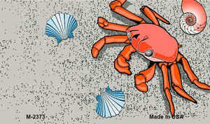 Crab And Seashells Wholesale Metal Novelty Magnet M-2373