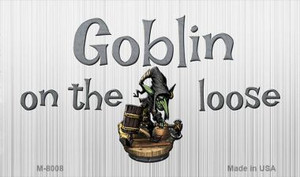 Goblin On The Loose Novelty Wholesale Metal Magnet M-8008