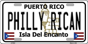 Philly Rican Puerto Rico Wholesale Metal Novelty License Plate LP-5032