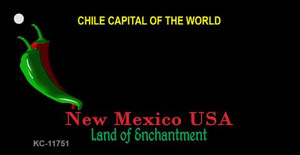 New Mexico Blank Black Wholesale State Key Chain KC-11751