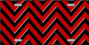 Red Black Chevron Wholesale Metal Novelty License Plate LP-5037