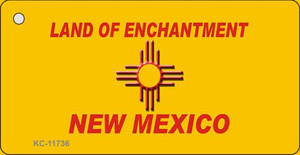 New Mexico Blank Yellow Wholesale State Key Chain KC-11736
