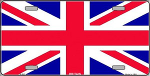 Britain Flag Wholesale Metal Novelty License Plate LP-507