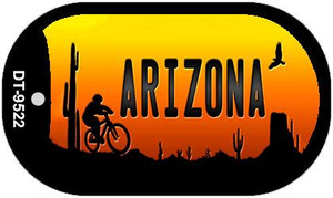 Biker Arizona Scenic Background Novelty Wholesale Metal Dog Tag Kit DT-9522