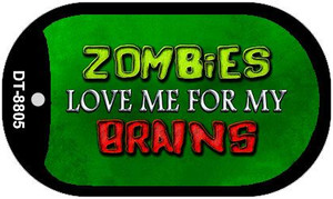 Zombies Love Me Wholesale Metal Novelty Dog Tag Kit DT-8805