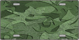Green Camouflage Background Wholesale Metal Novelty License Plate LP-5081