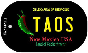 Taos New Mexico Black Wholesale State Dog Tag Kit DT-11752