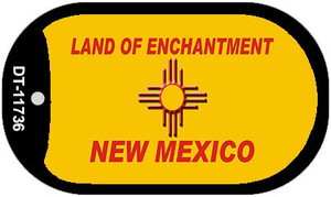 New Mexico Blank Yellow Wholesale State Dog Tag Kit DT-11736