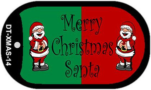 Green Red Santa Wholesale Metal Novelty Dog Tag Kit DT-XMAS-14
