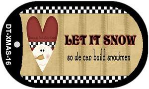 Let it Snow Wholesale Metal Novelty Dog Tag Kit DT-XMAS-16