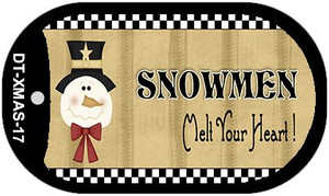 Snowmen Melt Your Heart Wholesale Metal Novelty Dog Tag Kit DT-XMAS-17