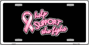 Help Support The Fight Wholesale Metal Novelty License Plate