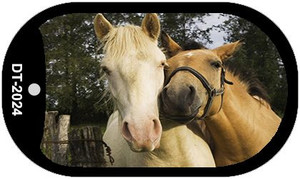 Horses Sweet On Each Other Wholesale Metal Novelty Dog Tag Kit DT-2024