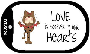 Love In Our Hearts Cat Wholesale Metal Novelty Dog Tag Kit DT-5024