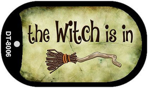 The Witch Is In Novelty Wholesale Metal Dog Tag Kit DT-8006