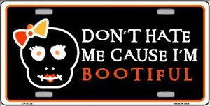 Cause I'm Bootiful Wholesale Metal Novelty License Plate LP-5124