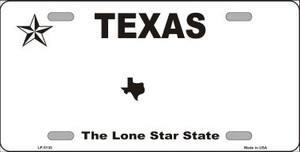 Texas Novelty State Background Blank Wholesale Metal License Plate