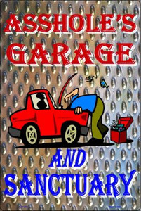 Garage And Sanctuary Wholesale Metal Novelty Large Parking Signs LGP-2071