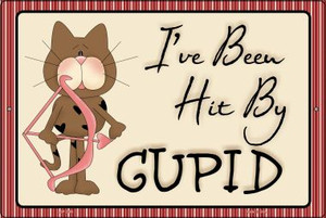 Cupid Kitty Wholesale Metal Novelty Large Parking Sign LGP-2098