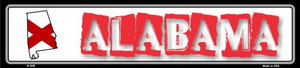 Alabama State Outline Wholesale Novelty Metal Vanity Small Street Signs K-300